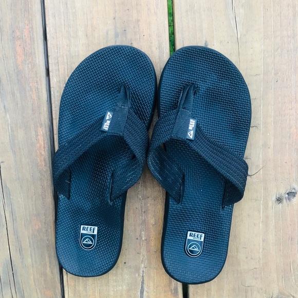 e30b4191 Reef Shoes | Classic Black Thick Strap Flip Flops W8m6 | Poshmark